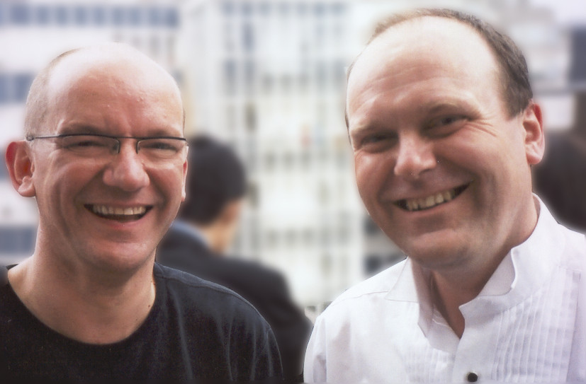 Stephen Jones with Bob Chilcott